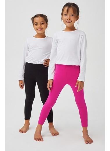 Penti Siyah Pembe Kız Çocuk Basic Tayt 2'Lı Set Siyah